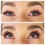 beautiful full set of eyelash extensions