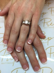 Classic french polish on natural short nails