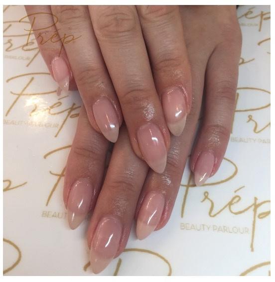 Sheer Pink Gel Extensions Manicure Vancouver | Prép Beauty Parlour