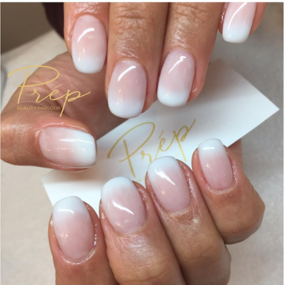 French Ombré Gel Extension Manicure Vancouver | Prép Beauty Parlour