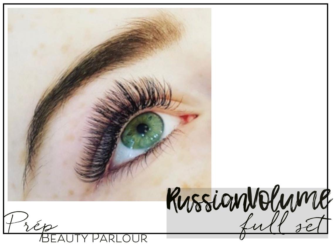 Best Russian Volume Full Set Eyelash Extensions Vancouver |Prép Beauty Parlour