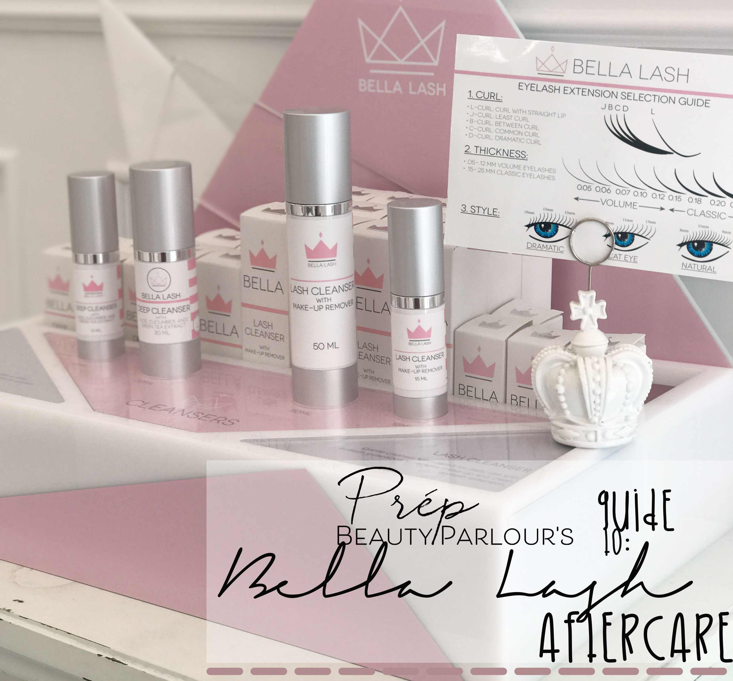 Prép Beauty Parlour Bella Lash Extensions Aftercare
