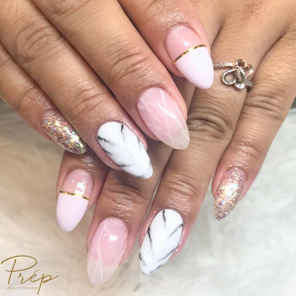 Marble Nail Art Vancouver | Prép Beauty Parlour